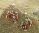 Handmade Citrine and Carnelian Chandelier Earrings