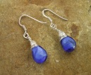 Handmade Blue Quartz Earrings