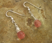 Handmade Cherry Quartz Earrings