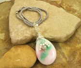 Handmade Candy Jade and Sterling Silver Pendant